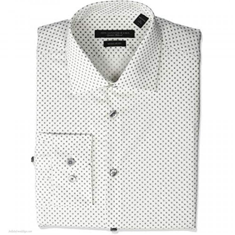 John Varvatos Star USA Men's Aaron Regular Fit Long Sleeve Button Down Dress Shirt