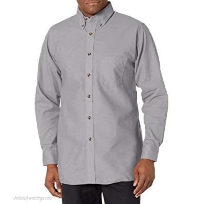 Red Kap Men's Poplin Dress Shirt Silver Grey 5X-Large