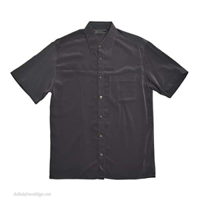 SHIRTS MADE IN USA Men's Big Dress Short Sleeve Shirt - Relax Fit Charcoal