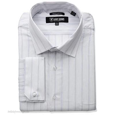STACY ADAMS Men's Big-Tall Stripe Y.d. Dress Shirt